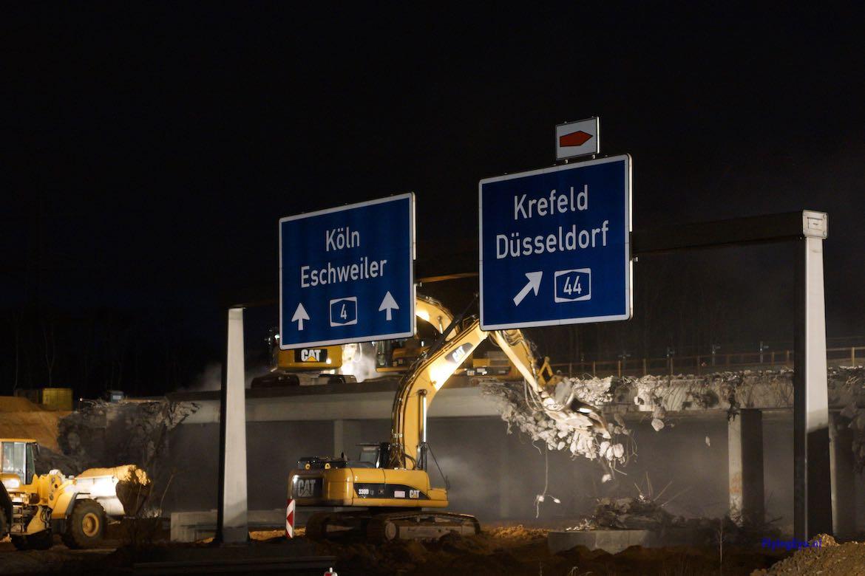 März/April 2012 – Abbruch zweite Brückenhälfte