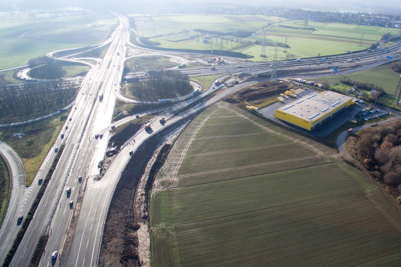 Dezember 2015 – provisorische Rampe Düsseldorf Richtung NL