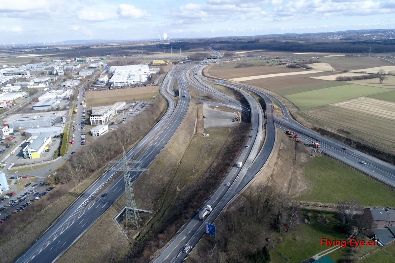 März 2018 – von Niederlande Richtung Kreuz mit der Behelfsbruecke